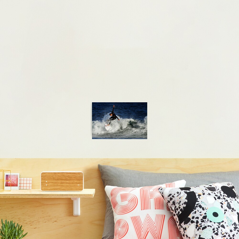 Surfing at Winkipop Photographic Print