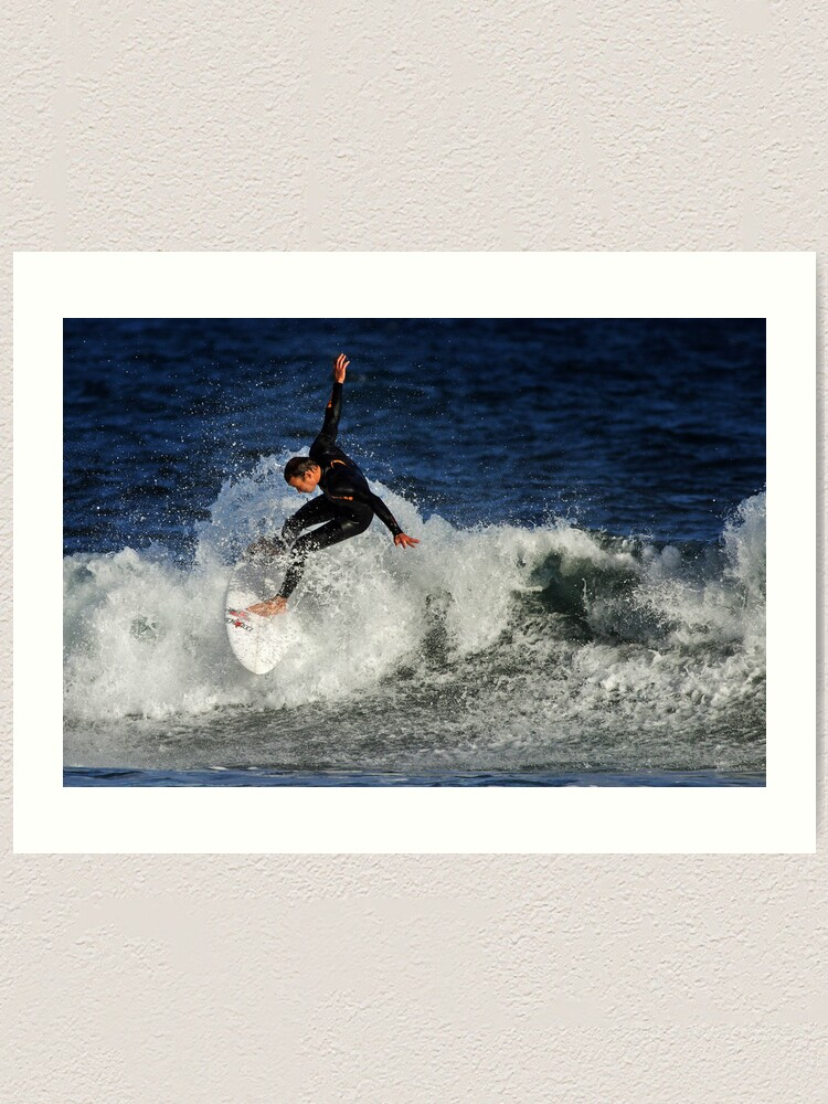 Alternate view of Surfing at Winkipop Art Print