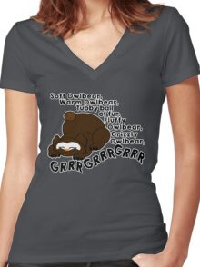 Soft Owlbear, Tubby Owlbear Women's Fitted V-Neck T-Shirt