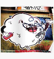 Cloudy blob - Graffiti - Street Art Poster