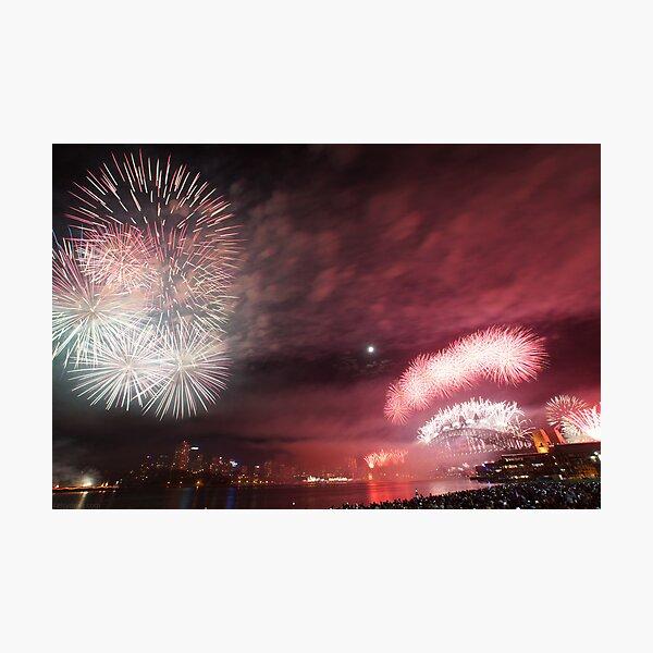 Sydney Fireworks Photographic Print