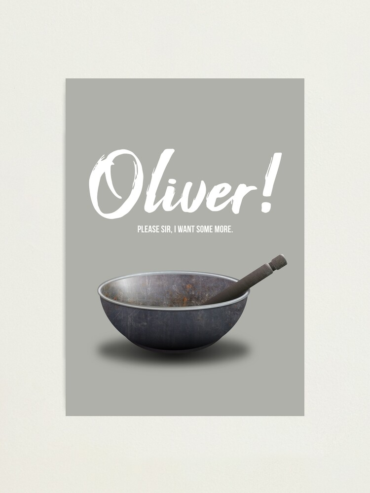 Alternate view of Oliver! - Alternative Movie Poster Photographic Print