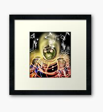 Reptile Warrior Framed Print