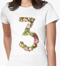 The number Three Part of a set of letters, Numbers and symbols Womens Fitted T-Shirt