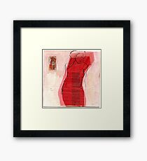 woman in the wind 3 Framed Print