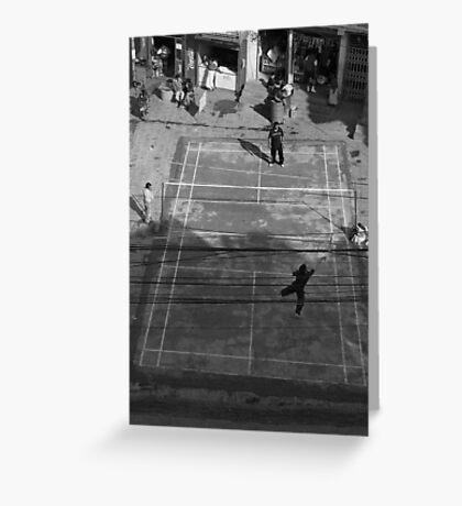 Street badminton Greeting Card