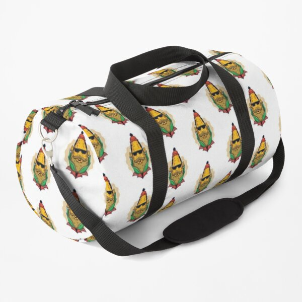 Hipster Corn with sunglasses and beard Duffle Bag