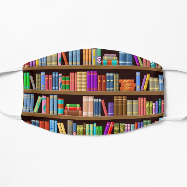 Cozy Bookshelf Flat Mask