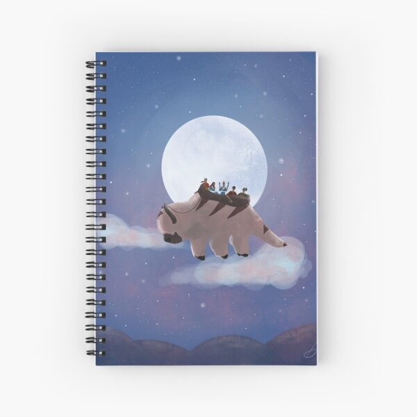 Appa and Team Avatar: Under the Moon Spiral Notebook