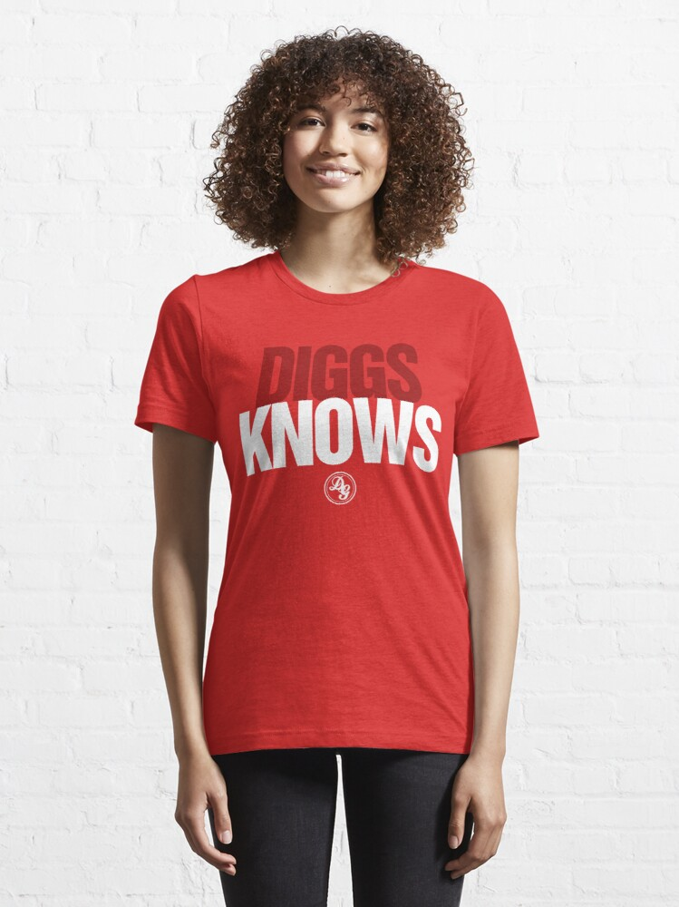 Alternate view of Discreetly Greek - Diggs Knows - Nike Parody Essential T-Shirt