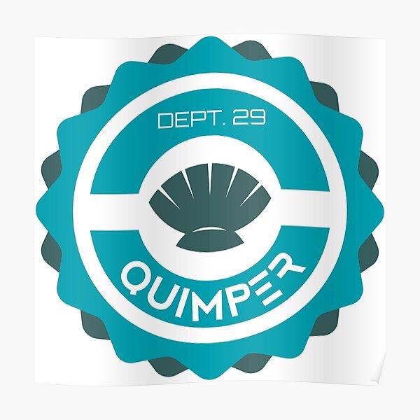 SOUVENIR DE QUIMPER - BRETAGNE - FRANCE Poster