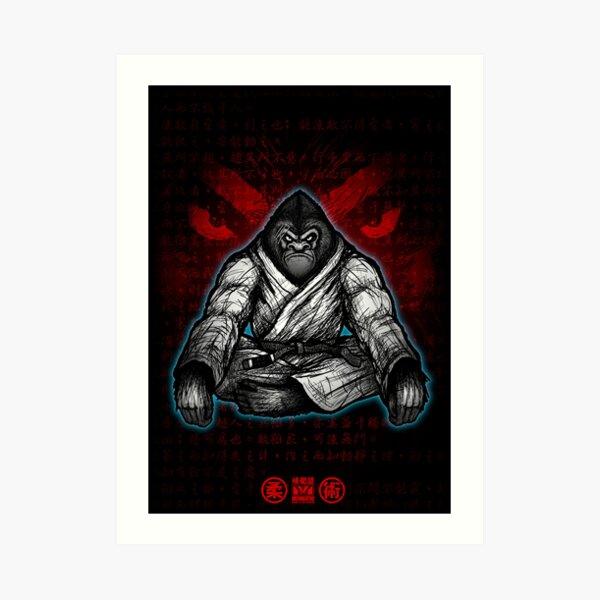 Black Belt Gorilla  Art Print