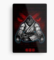 Black Belt Gorilla  Metal Print