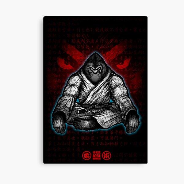 Black Belt Gorilla  Canvas Print