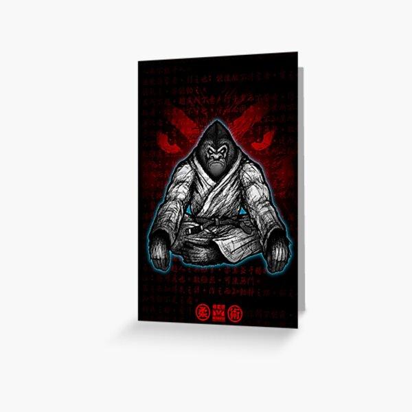 Black Belt Gorilla  Greeting Card