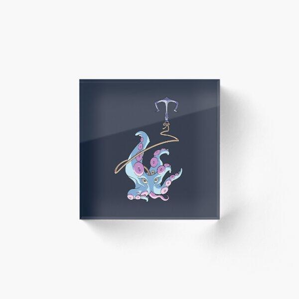 La pieuvre et l'ancre Bloc acrylique