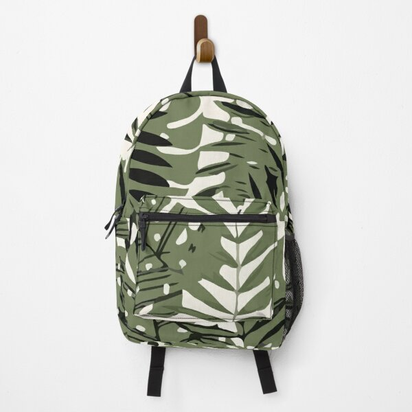 Abstract jungle pattern with tropical leaves Backpack