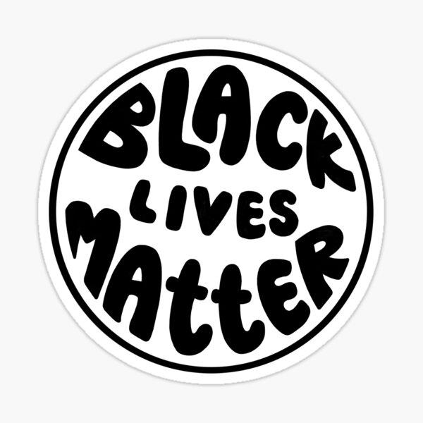 black & white black lives matter Sticker