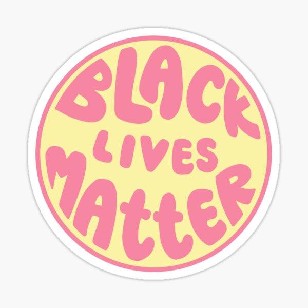 pink & yellow black lives matter  Sticker