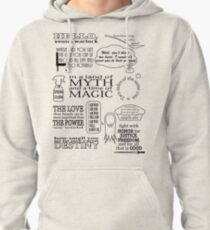 Merlin Quotes Pullover Hoodie