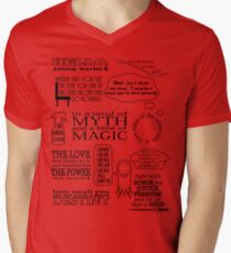 Merlin Quotes Men's V-Neck T-Shirt