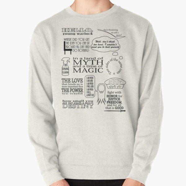 Merlin Quotes Pullover Sweatshirt