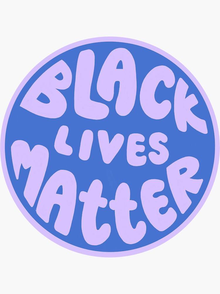 blue & purple black lives matter by baydreamzine