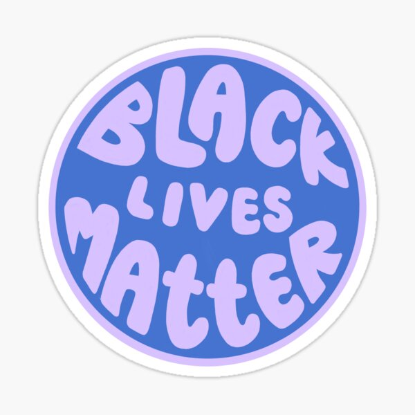 blue & purple black lives matter Sticker
