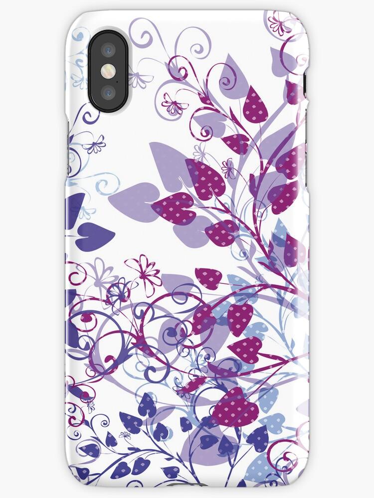 Floral Spring Violet by Silvia Neto