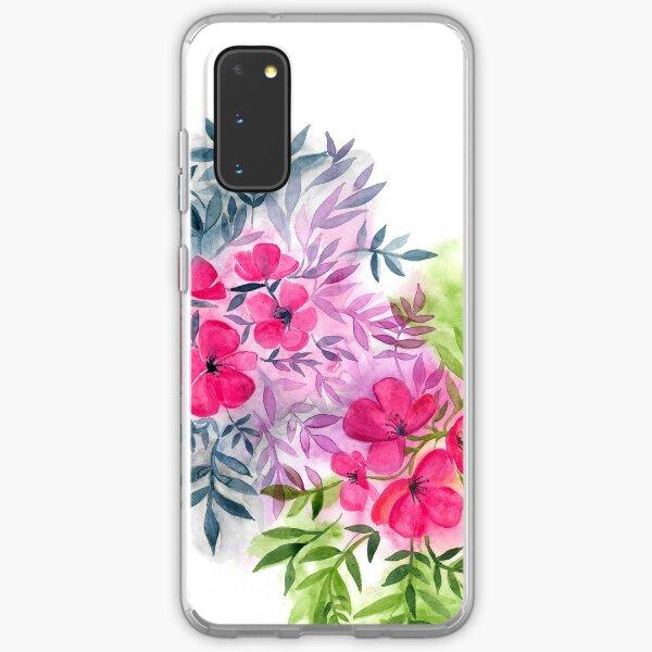 Dual Bouquets - a watercolor floral Samsung Galaxy Soft Case