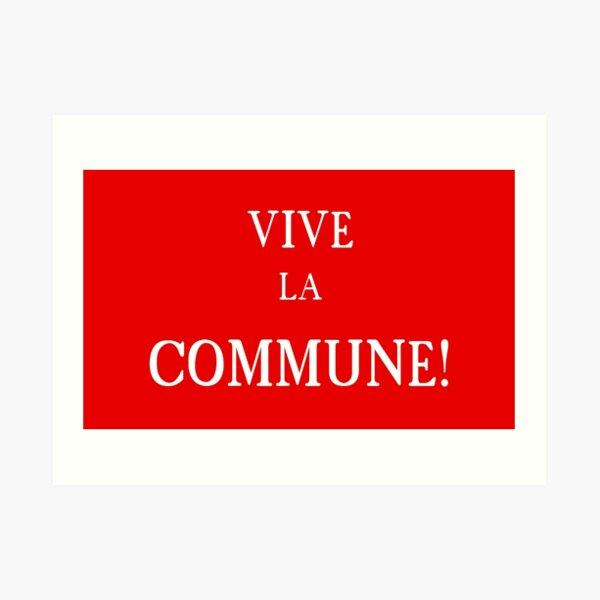 Bandera de la Comuna de París Lámina artística