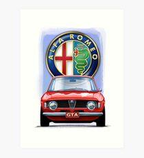Alfa Romeo GTA Art Print