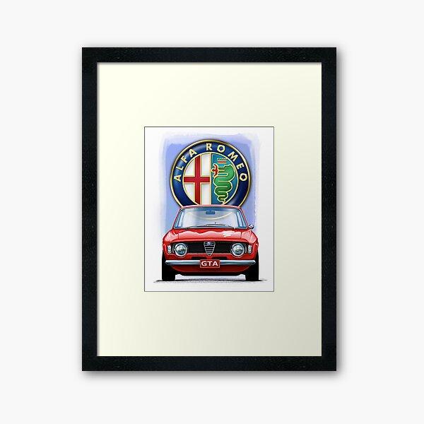Alfa Romeo GTA Impression encadrée