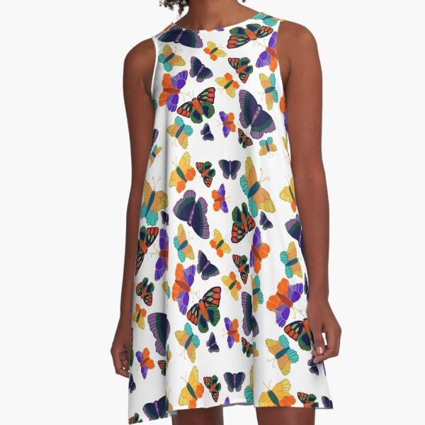 Butterfly Swarm  A-Line Dress
