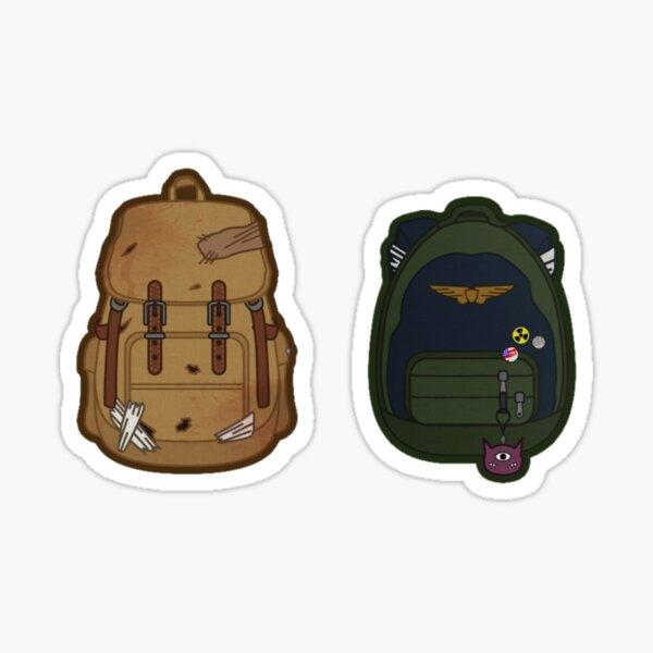 Joel and Ellie backpacks Sticker
