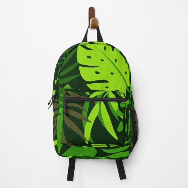 Creative abstract with tropical plants leaves Backpack