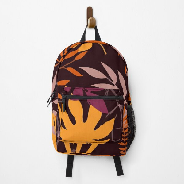 Creative abstract with tropical plants Backpack