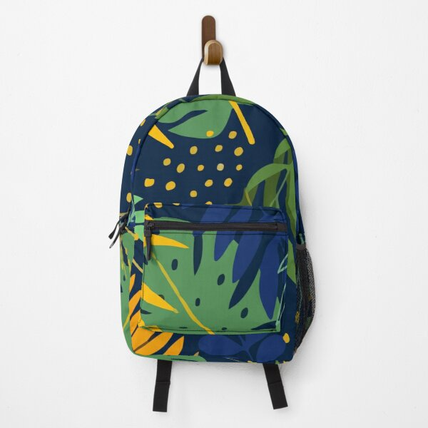 Creative with tropical plants leaves Backpack