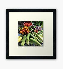 Vegetable Abbondanza! Framed Print