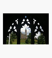 Cornell clock tower from west campus Photographic Print