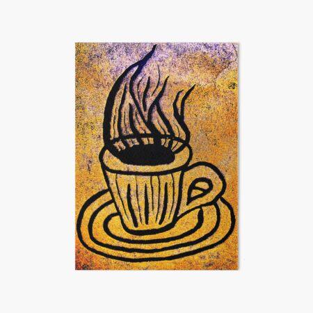 Coffee by Gina Lee Ronhovde Art Board Print
