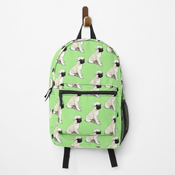 Puppy Pug! - Green Backpack