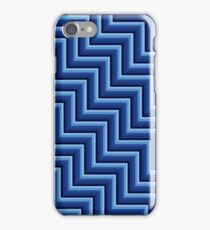 Stripy steps in Blue iPhone Case/Skin