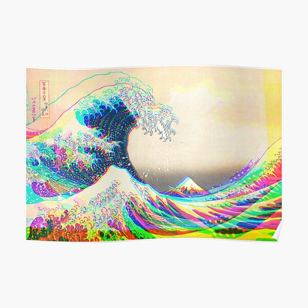 The funky Great Wave off Kanagawa Poster