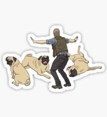 Jurassic Pugs Sticker