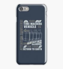 Time Travel Backwards iPhone Case/Skin
