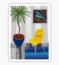 Yellow chair Sticker