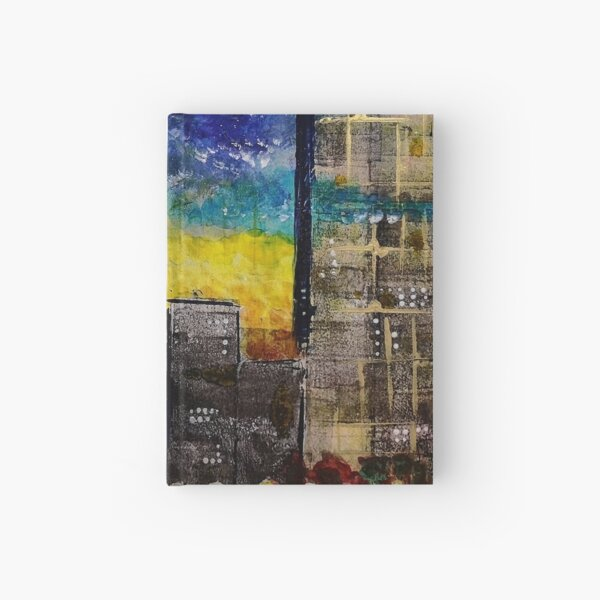Edge of Reality abstract cityscape Hardcover Journal