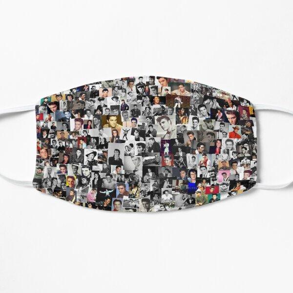 Elvis presley collage Flat Mask