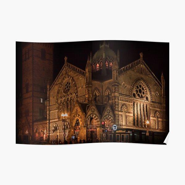 Old South Church at nightfall Poster